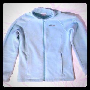 Columbia jacket a light aqua/ sea foam color